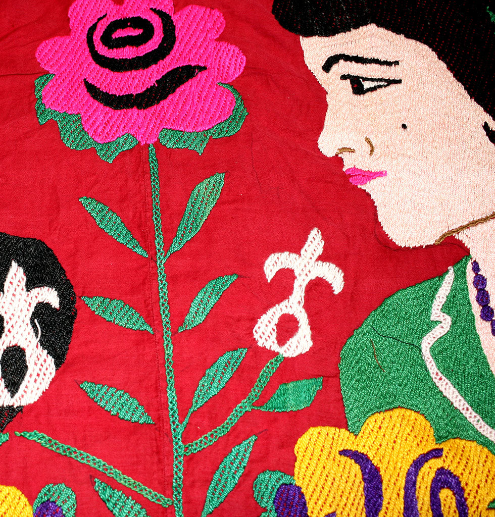 Vintage wedding couple suzani wall tapestry. Hand embroidered suzani wall hanging. Unique wedding couple gift for the couple who has everything.