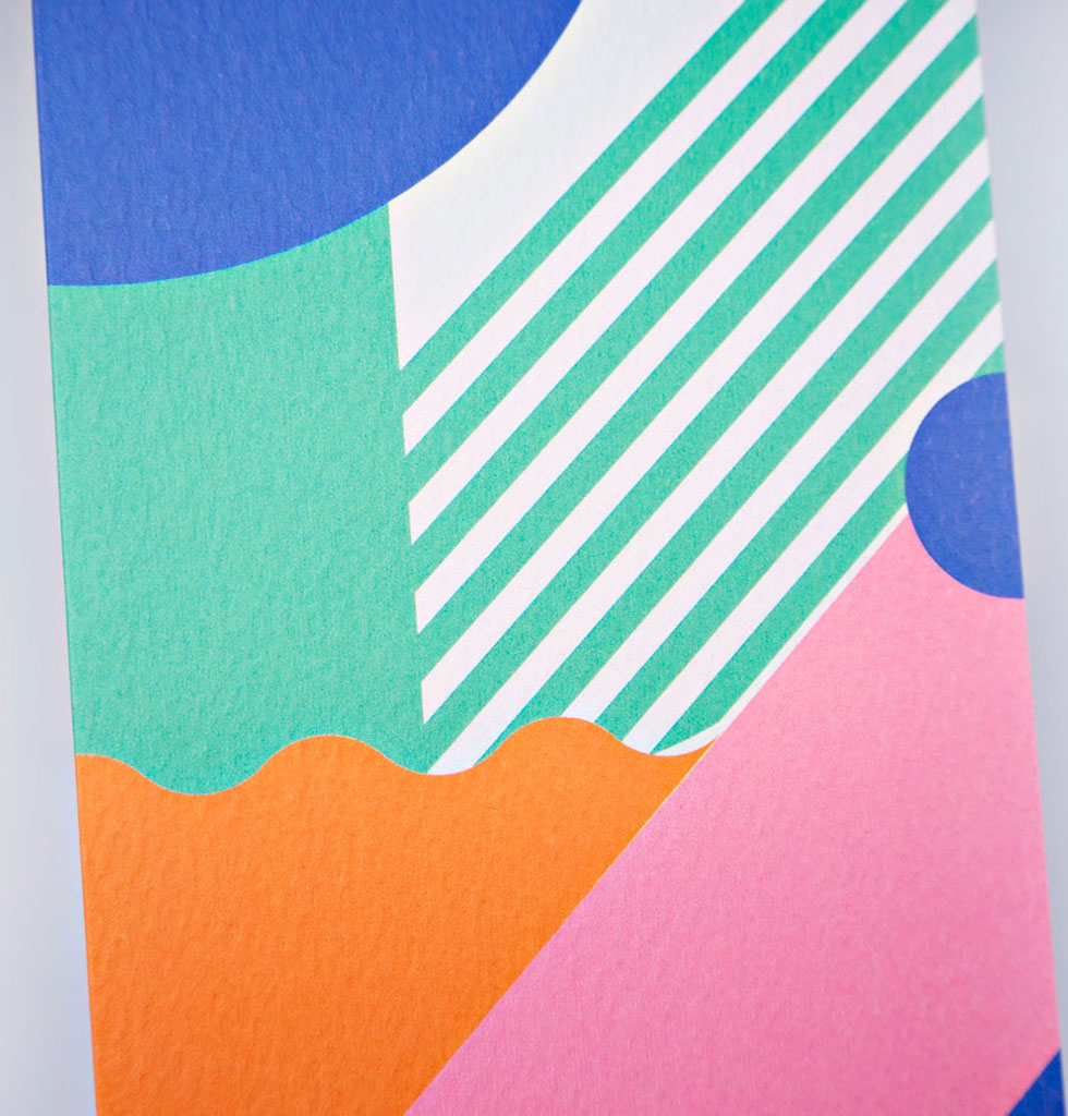 The Completist Miami stripes art card. £3.50 wagreen.co.uk