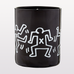 KEITH HARING BLACK CANDLE WITH WHITE DANCER DRAWINGS