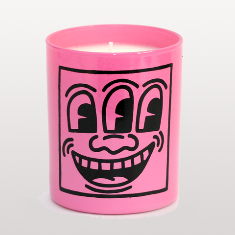 KEITH HARING PINK MASK CANDLE