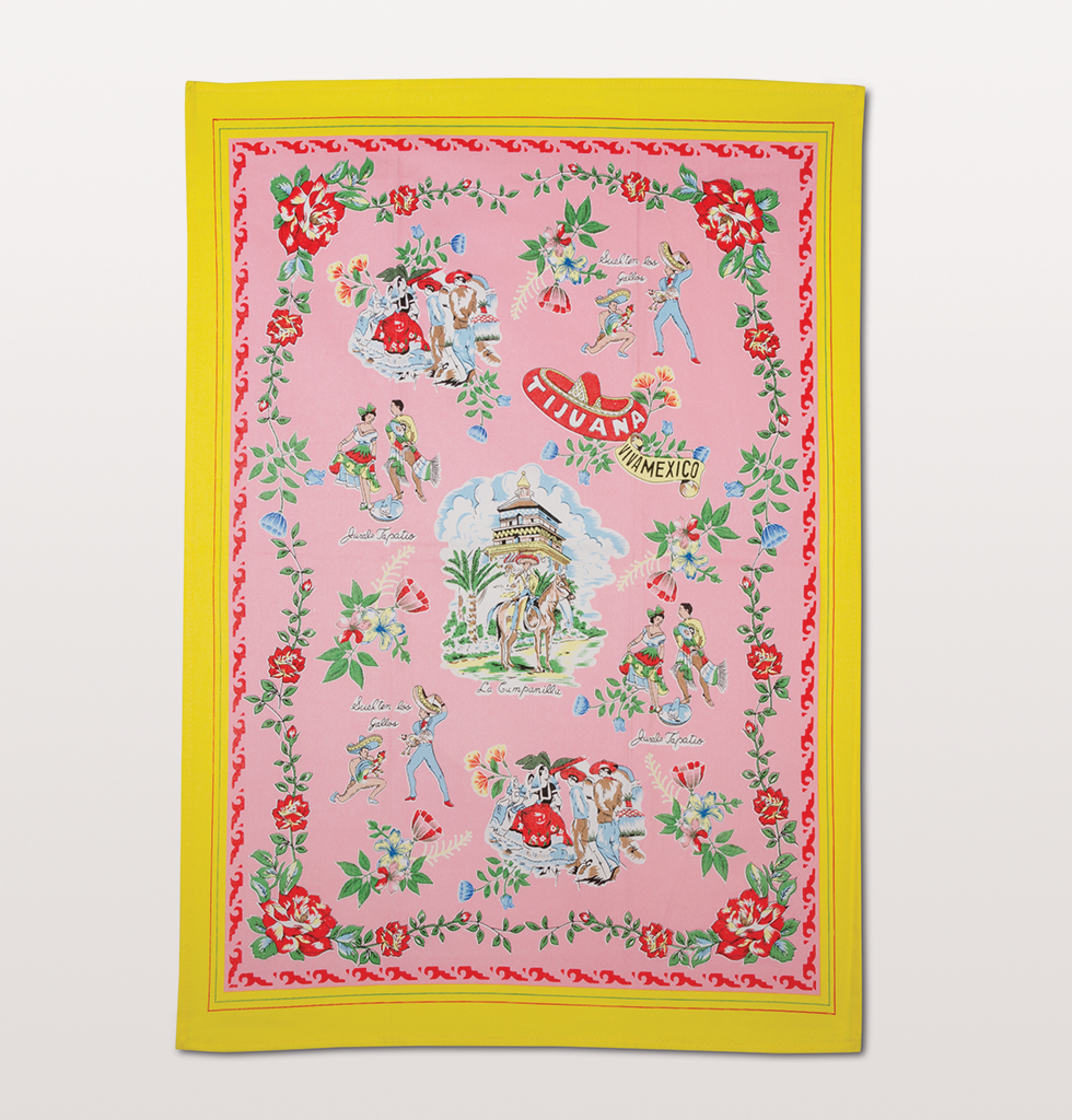 Kitsch Kitchen tijuana mexico pink tea towel. £12 wagreen.co.uk