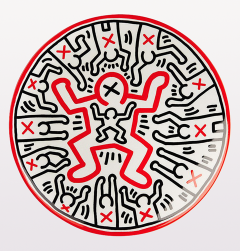 KEITH HARING CHILD DANCER PLATE