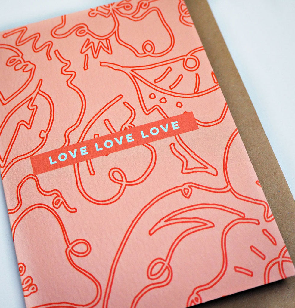 The Completist LOVE LOVE LOVE card. £3.50 wagreen.co.uk