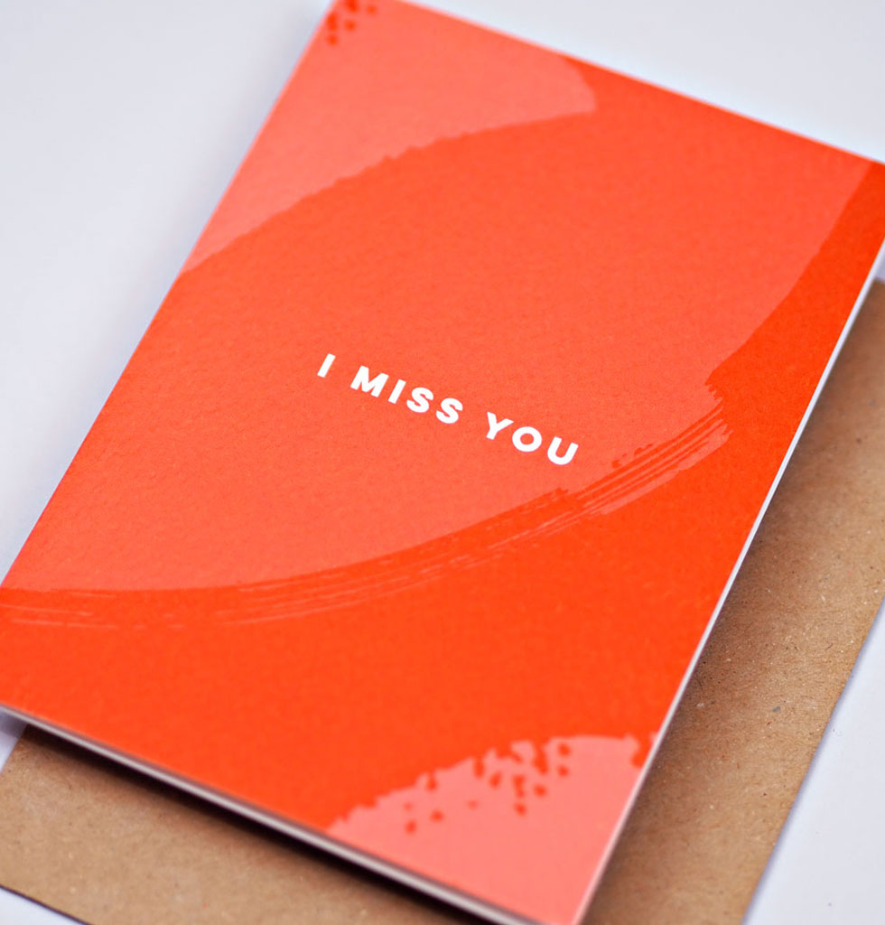 The Completist I MISS YOU card. £3.50 wagreen.co.uk