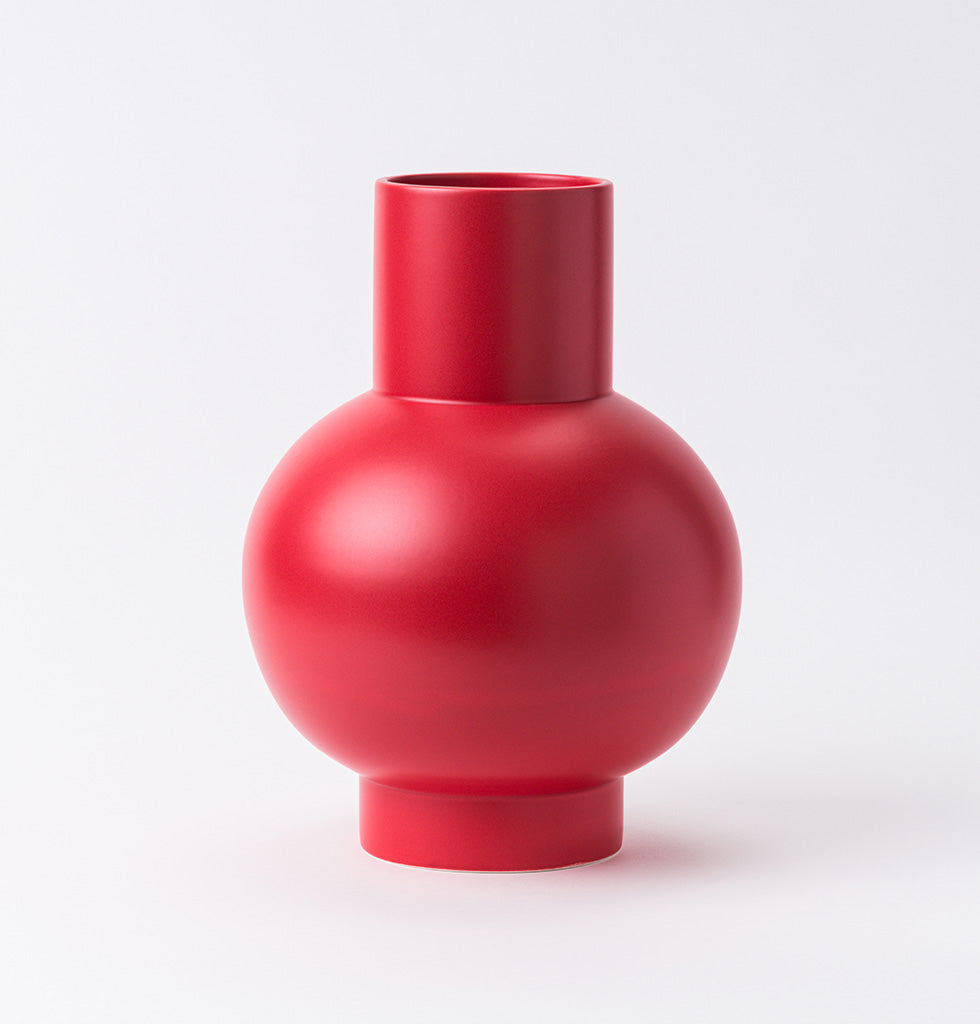 LARGE STRØM VASE SALSA RED