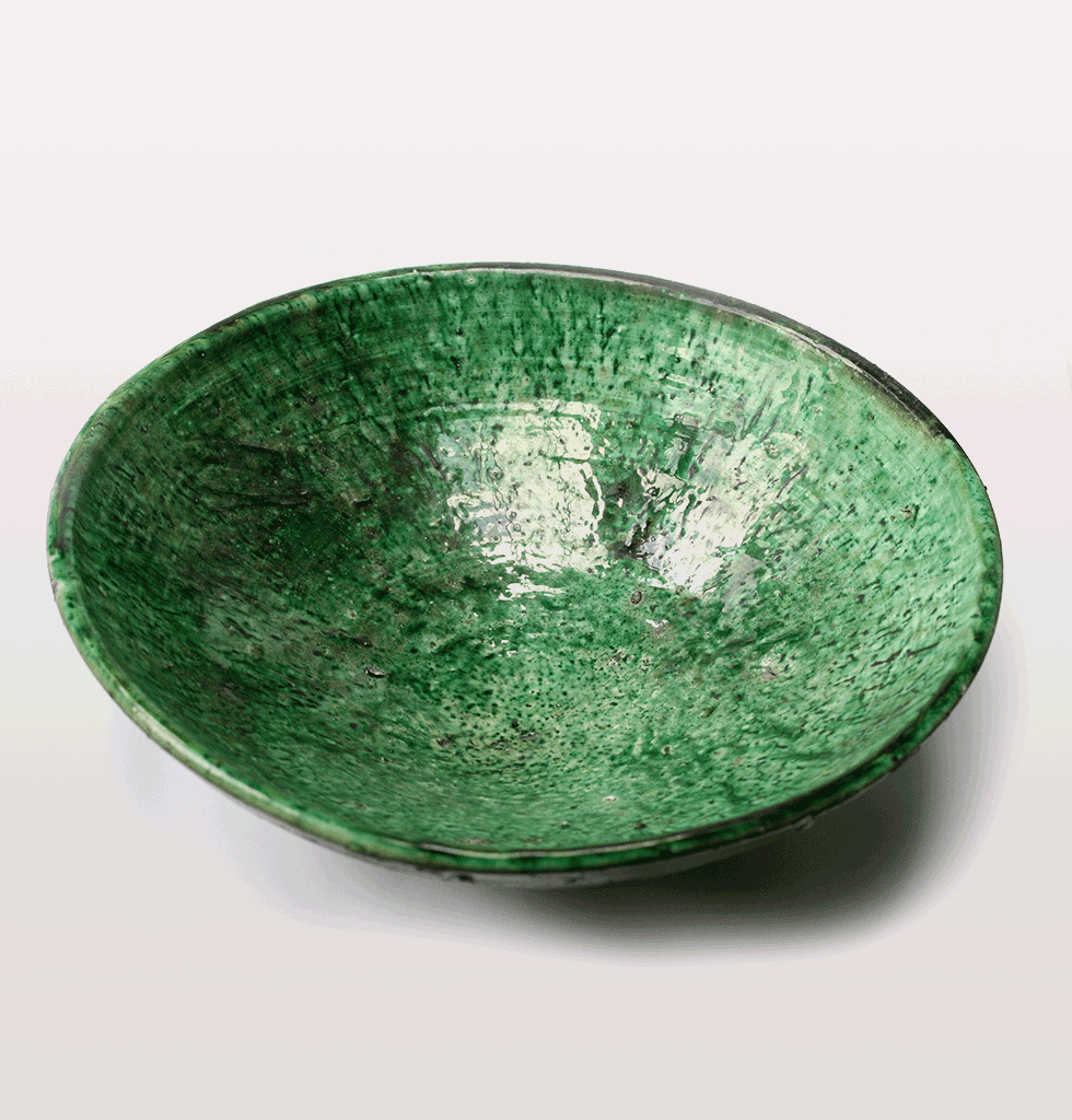 Large Moroccan green salad bowl or fruit bowl
