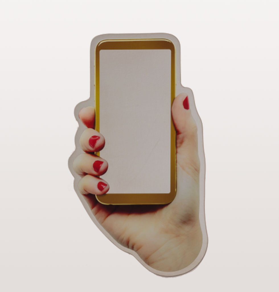 "But first, let me take a selfie...  Put yourself in the picture with this fun new Selfie mirror design by Seletti.  Designed by Romano Giampiero this smart phone shaped hand held mirror is guaranteed to give you all the likes you deserve.   W.A.Green says, ""This has to be the ultimate mirror selfie wall mirror""."