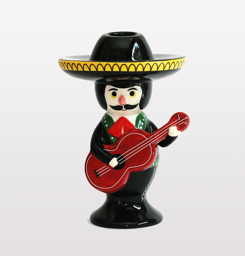 MARIACHI MEXICAN CANDLESTICK HOLDER