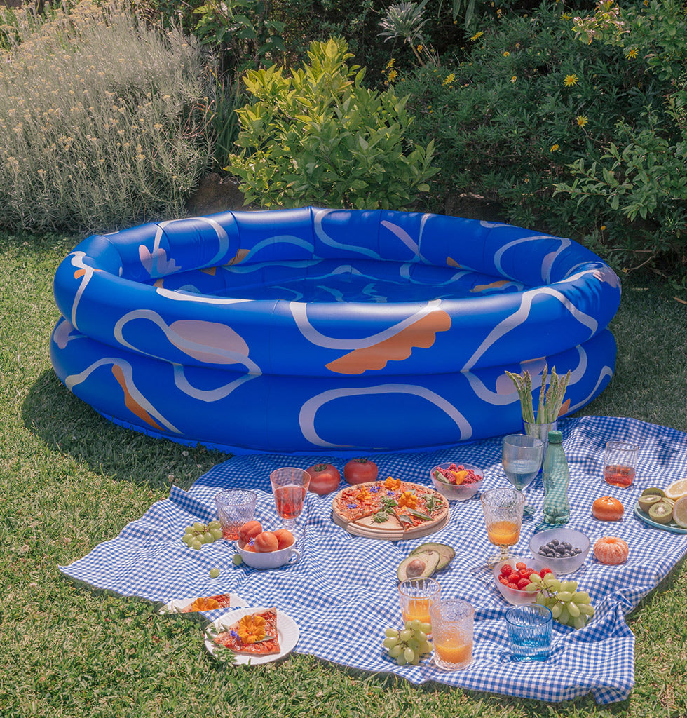 Anna Beam for Slowdown Studio. Mylle inflatable swimming paddling pool. Original Mylle pool design