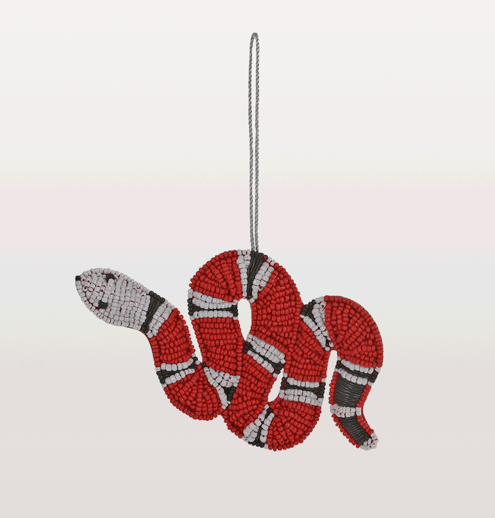 gucci inspired KINGSNAKE CHRISTMAS DECORATION