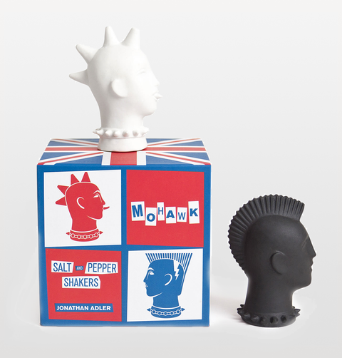 MOHAWK SALT AND PEPPER SHAKERS