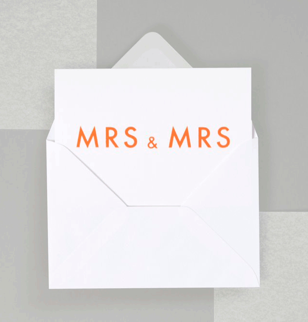 MRS AND MRS CARD by OLA STUDIO