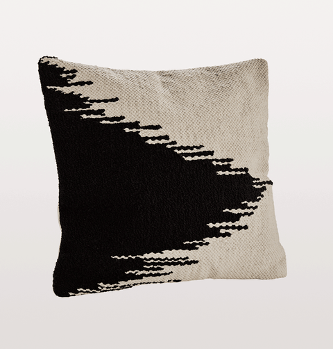 black and white cotton cushion Madam Stoltz