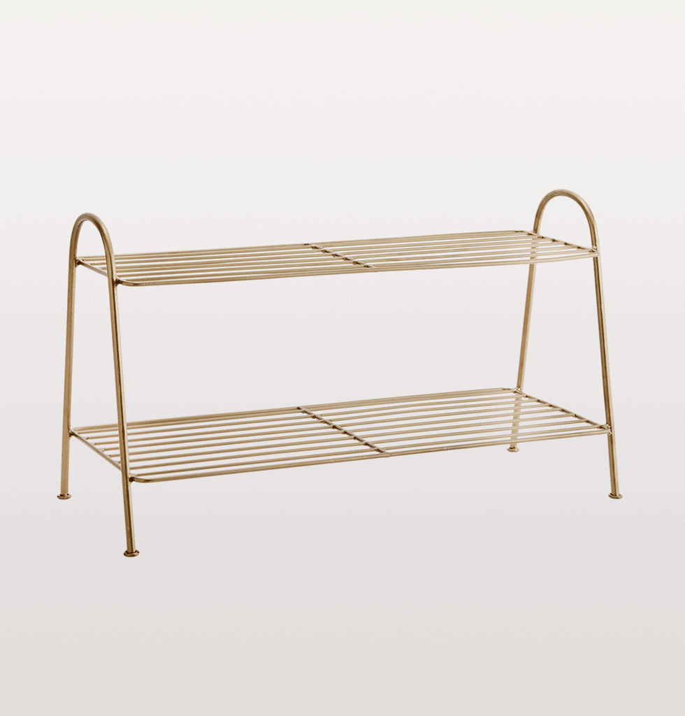 Brass shoe rack Madam Stoltz