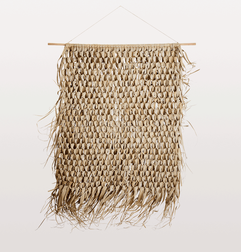 Madam Stoltz natural seagrass wall hanging