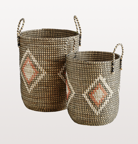 BASKET WITH HANDLES LARGE