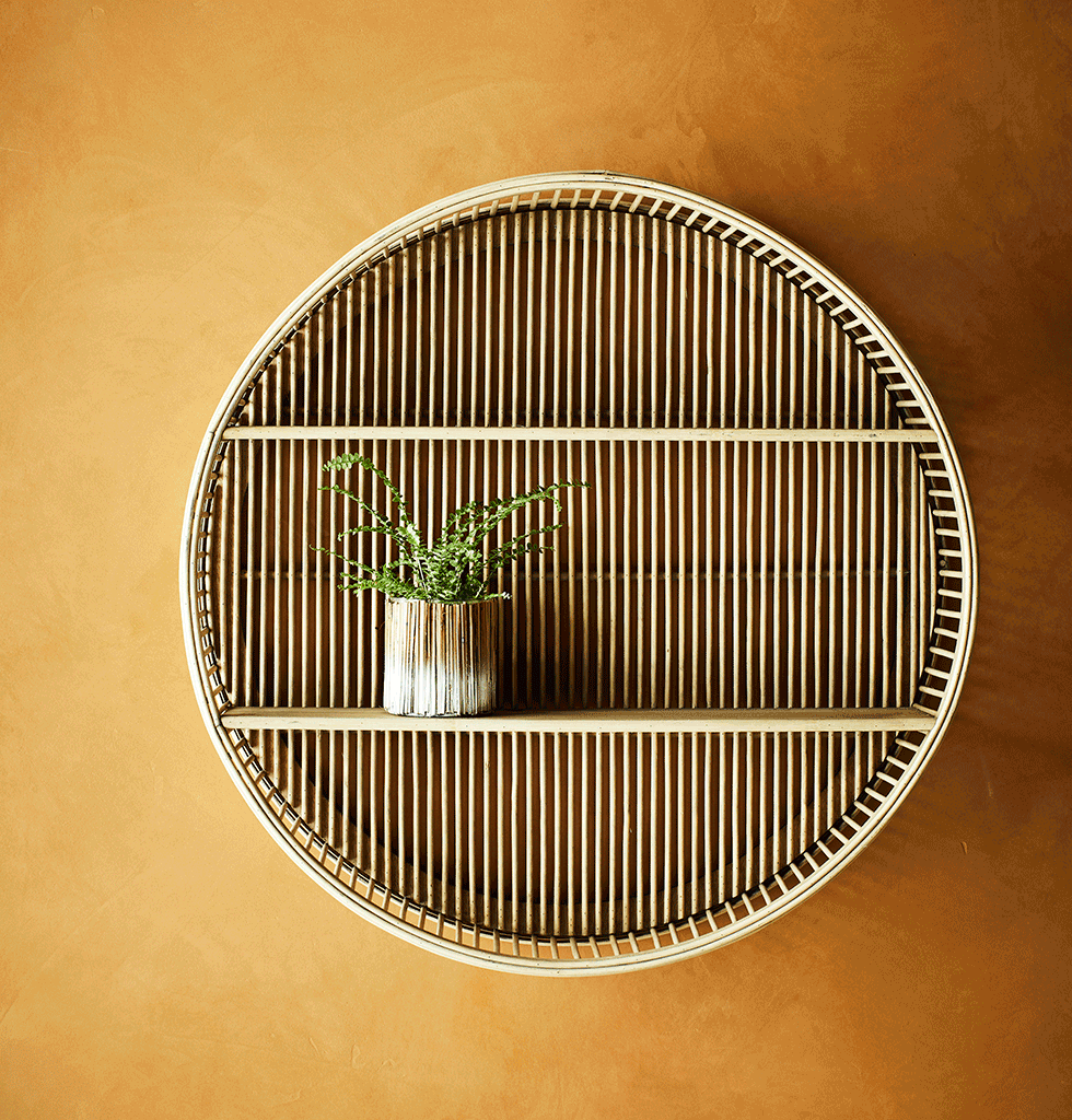 Plain round bamboo shelf Madam stoltz