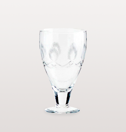 PATTERNED VINTAGE WINE GLASS