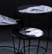 FOSCO SMALL BLACK AND WHITE SIDE TABLE by PULPO