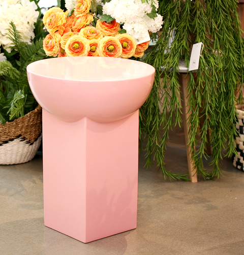 MILA PINK HIGH CERAMIC SIDE TABLE by PULPO