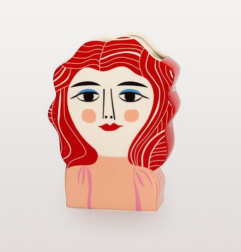 MISS MEYER RED HEAD VASE