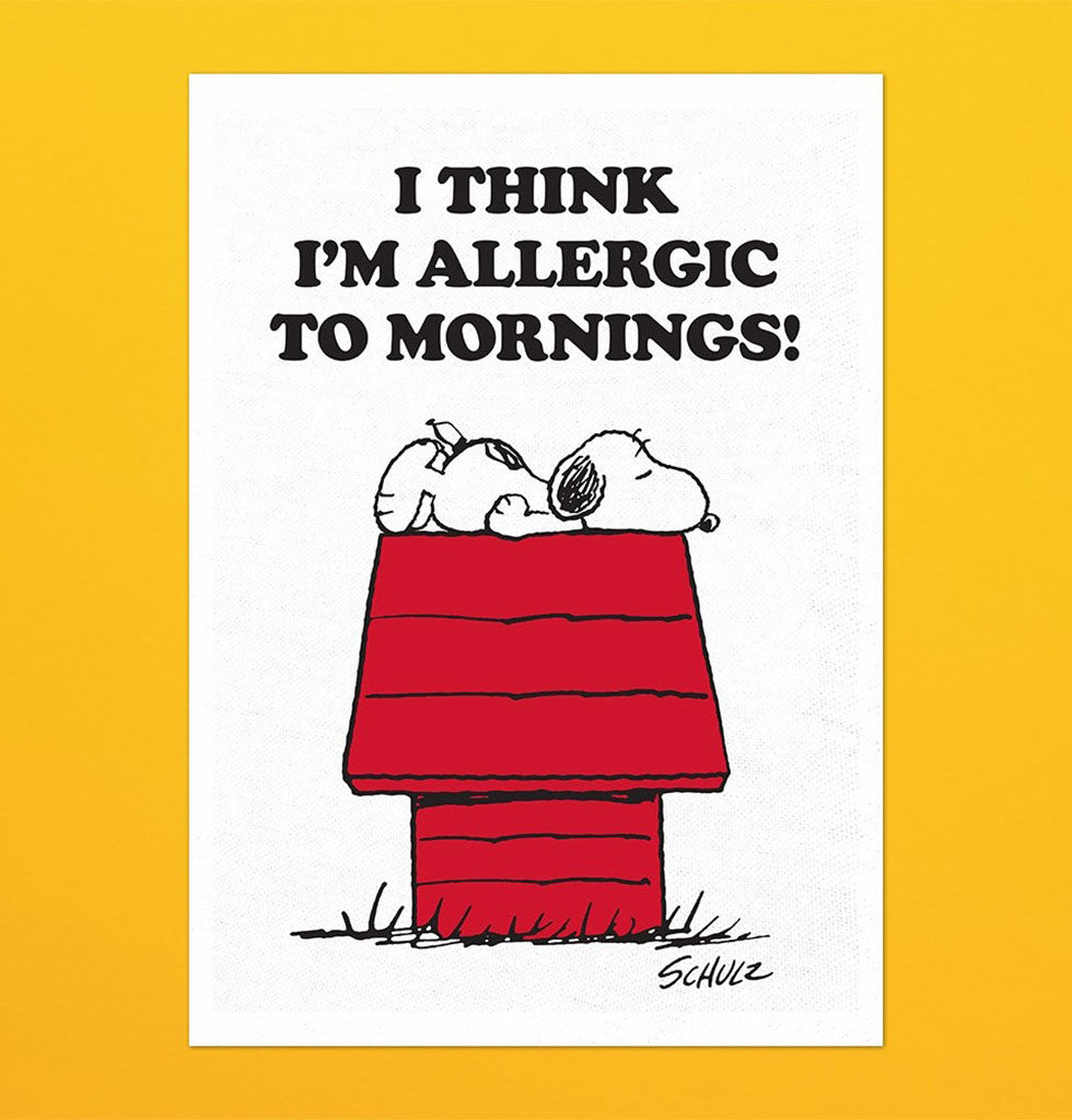 Peanuts x Magpie Allergic to Mornings tea towel. £11 wagreen.co.uk