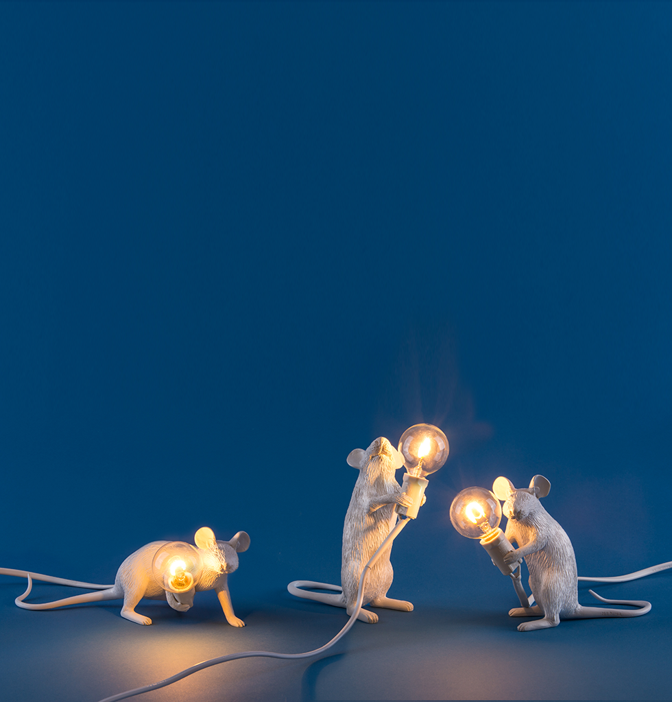 SELETTI  WHITE MOUSE LIGHTS