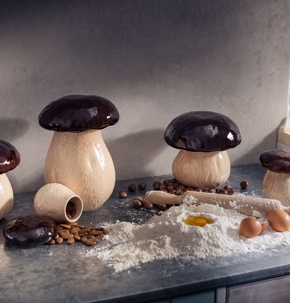Bordallo Pinheiro mushroom storage jars. 3 sizes. wagreen.co.uk