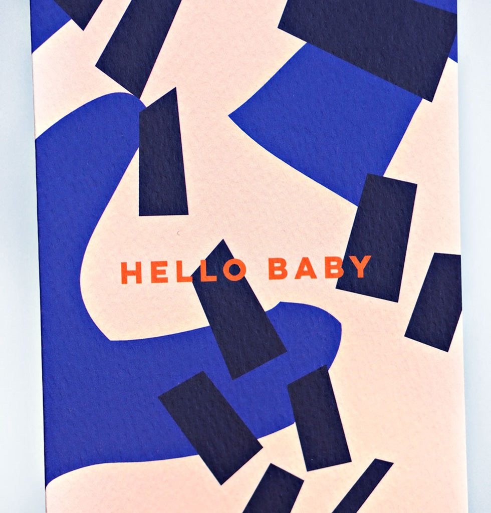 Hello Baby new baby or love Card The Completist W.A.Green