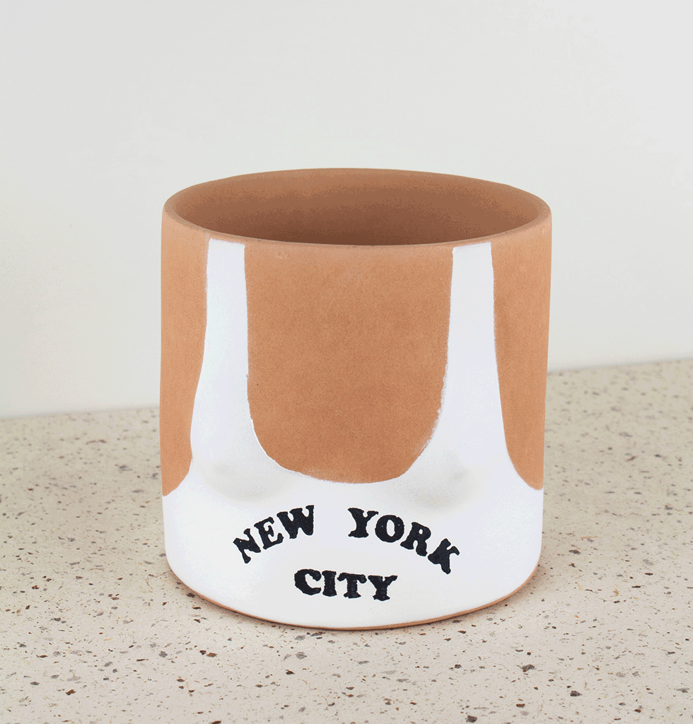 NYC NEW YORK CITY SWIM SUIT PLANTER PLANT POT BY GROUP PARTNER