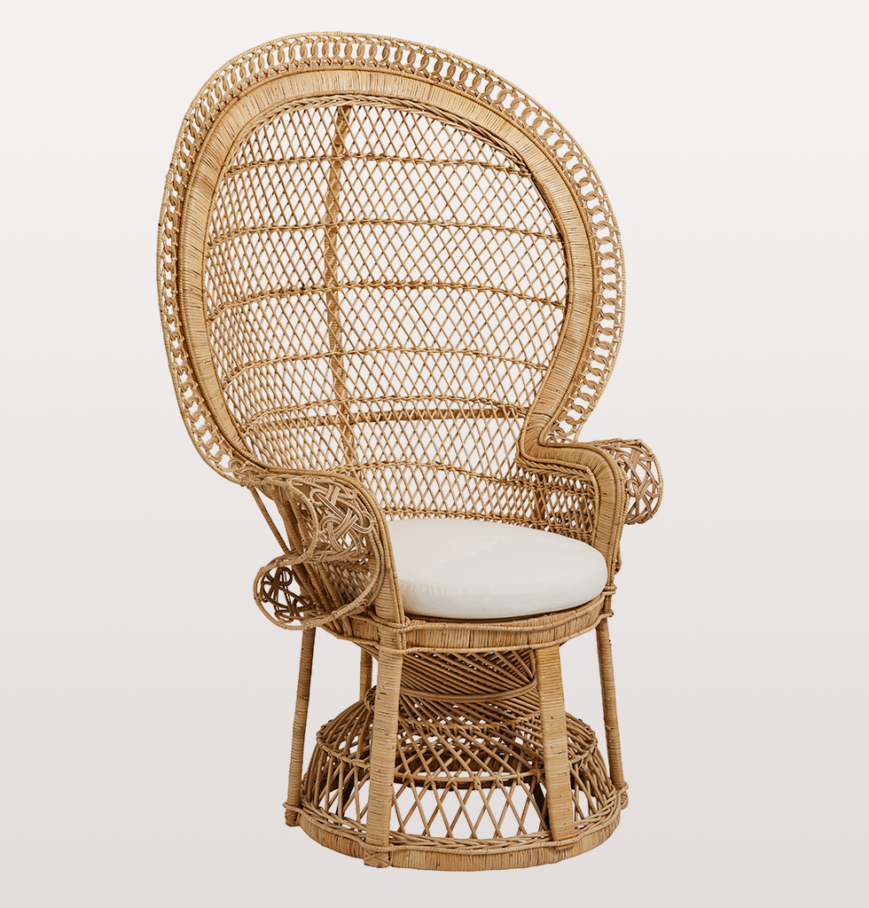 Nordal large wicker peacock chair outdoor indoor - Sillon emmanuelle ...