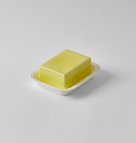OFFdn BONE CHINA BLOCK OF BUTTER DISH