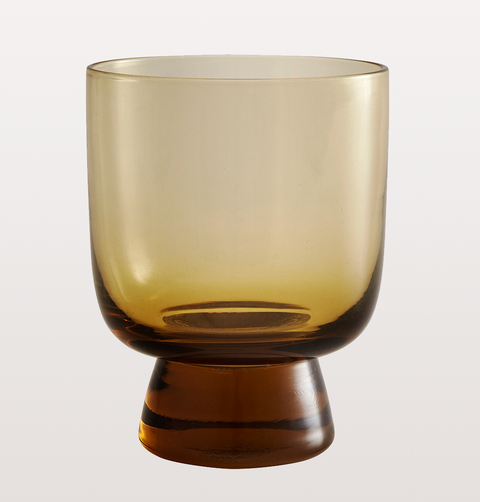 SMALL AMBER WINE GLASS by NORDAL