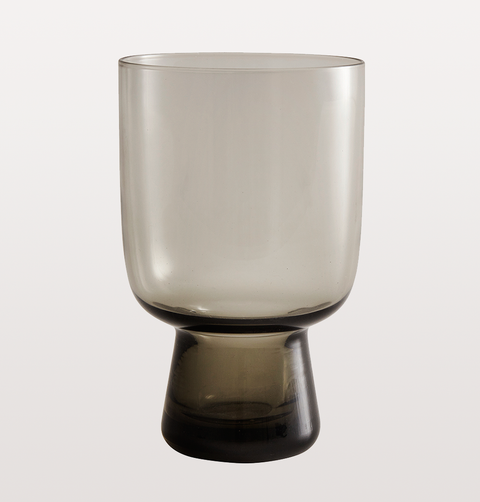LARGE SMOKEY GREY WINE GLASS by NORDAL