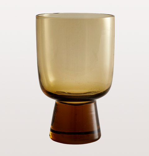 LARGE AMBER WINE GLASS by NORDAL
