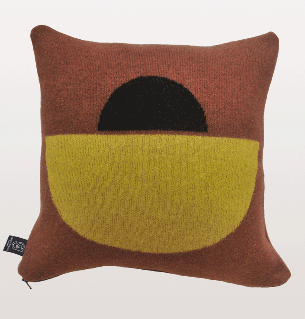 Giannina Capitani Panton Cushion yellow and black