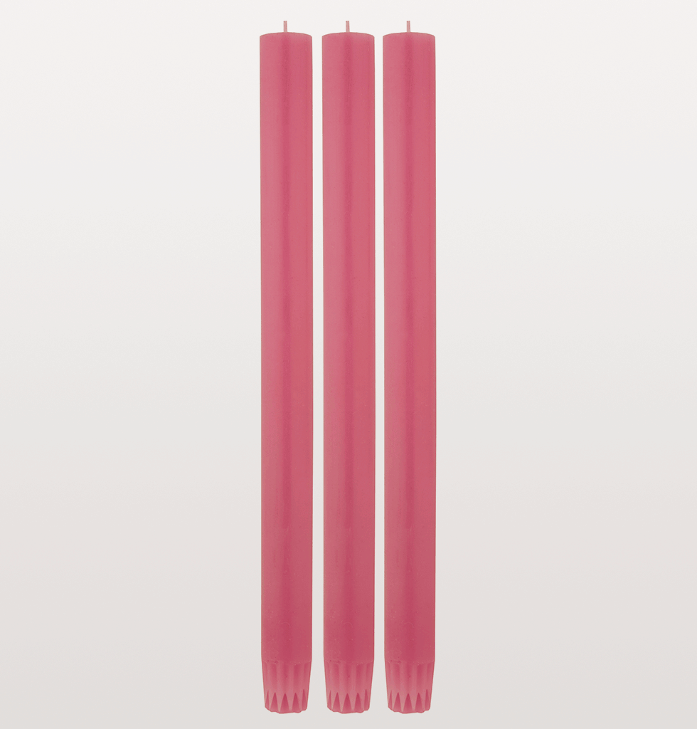 Long luxury dinner candle cerise pink