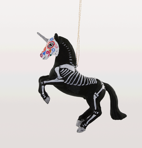 Day of the dead unicorn Christmas decoration