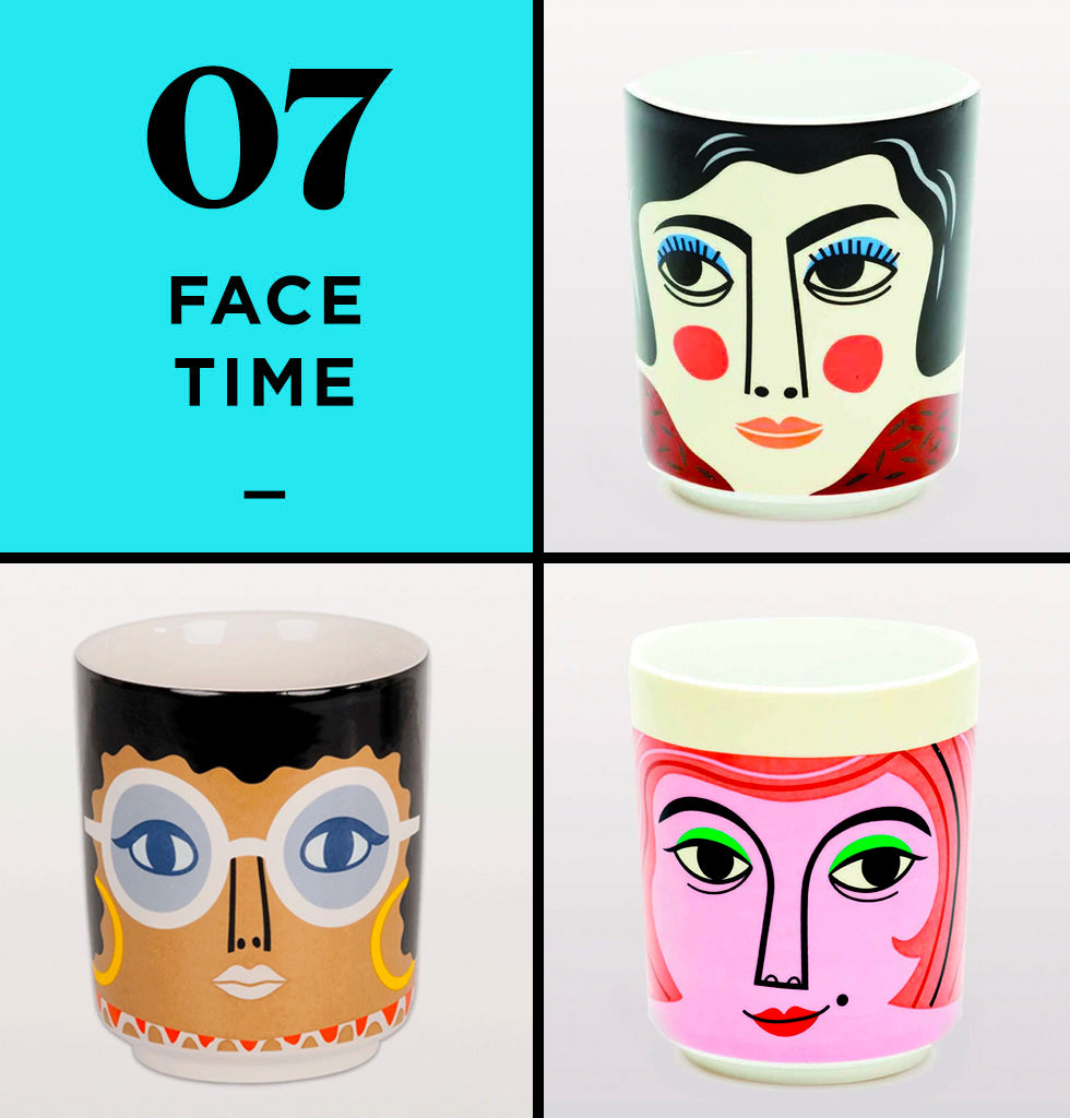 HOME PERK UP PACK 7 | FACETIME | The Queen of Disco, Gloria, the sassy Mrs Peterson and the glamorous Mrs Edelmann are a perfect way to perk up your friends as this cute little kitsch trio are stylish and fabulous in every way