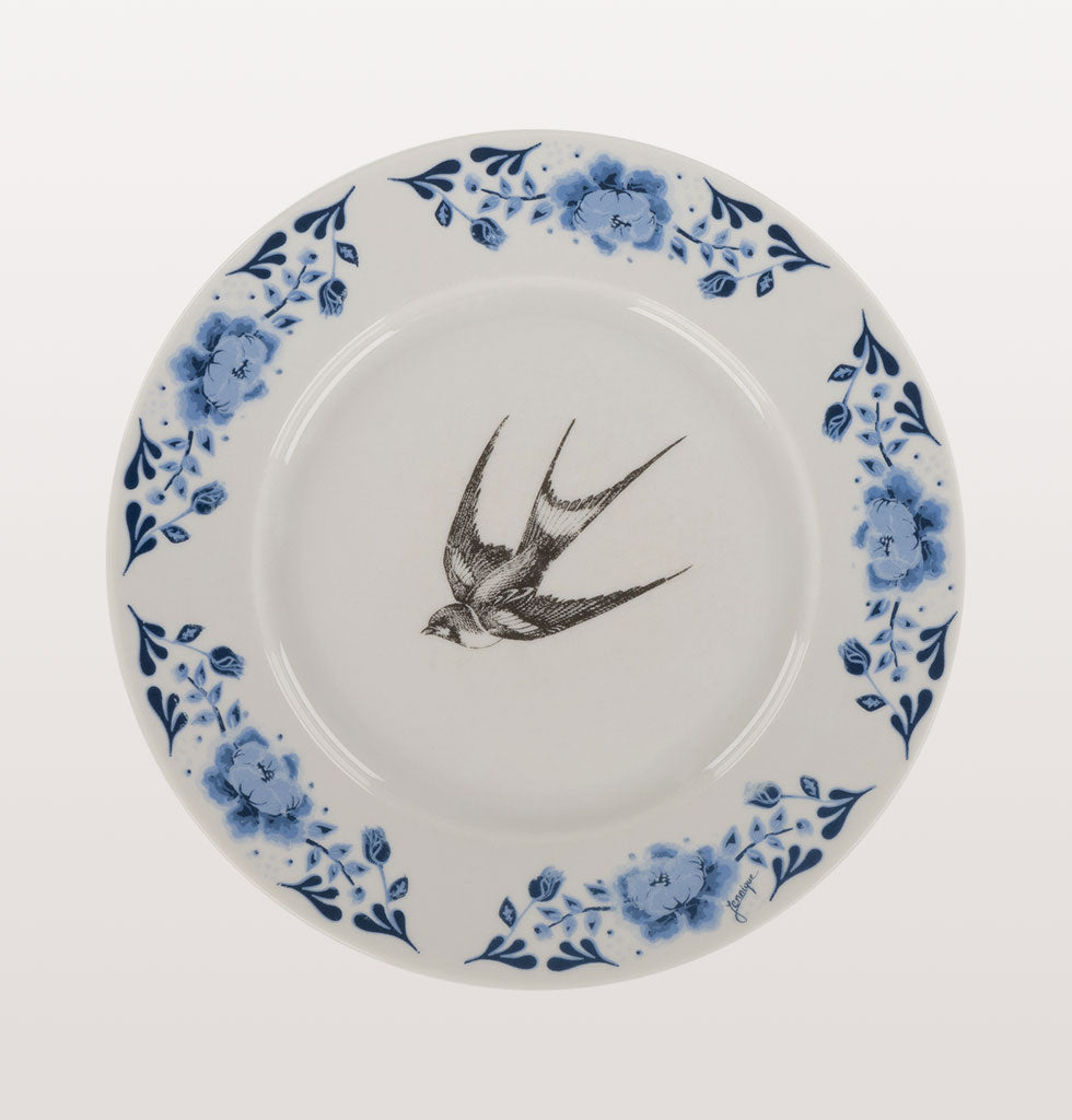 Kitsch Kitchen vintage plates with swallow bird design. Unique wall or display side plates. £18 wagreen.co.uk