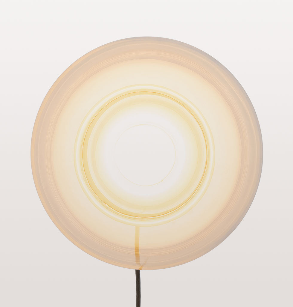 BOULE SMALL CLEAR AND OPAL WHITE TABLE LIGHT - EX DISPLAY