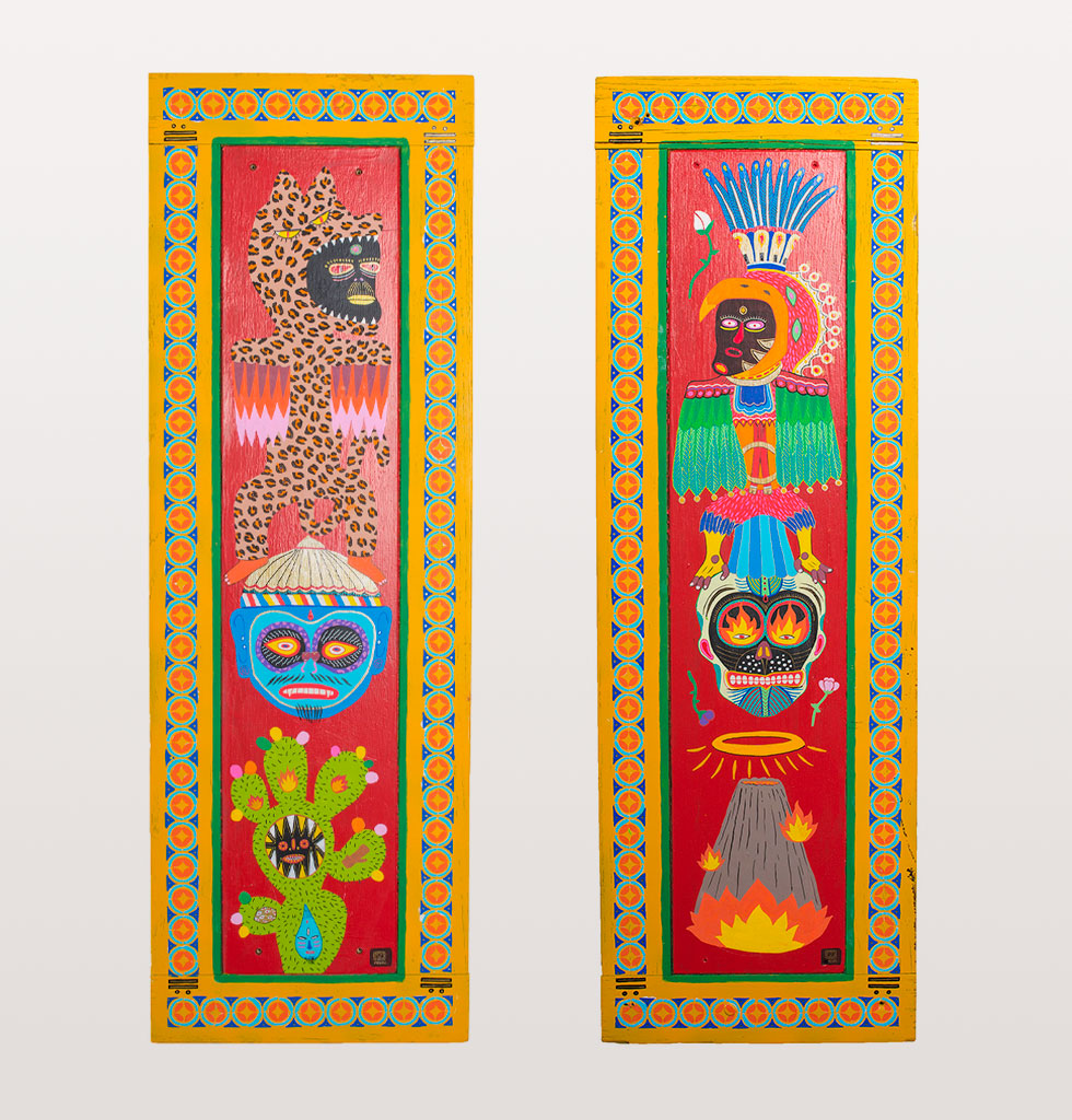 Pakal the protectors double painted wall panels
