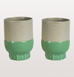 LARGE TWO COLOUR COFFEE MUGS IN GREEN