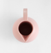 Top view of large pale pink ceramic Strom jug by Raawii