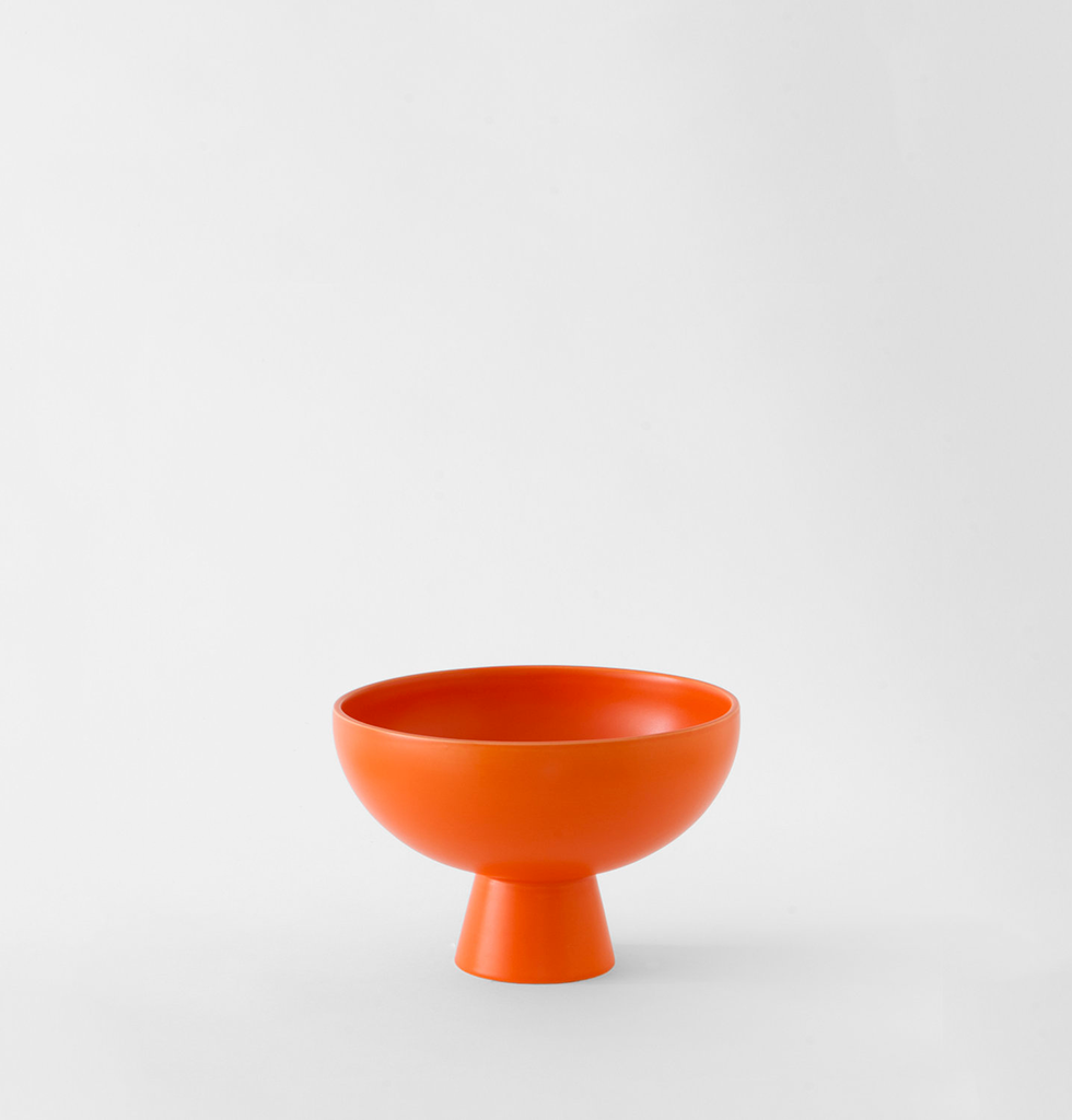 RAAWII. Bright orange small bowl. £50 wagreen.co.uk