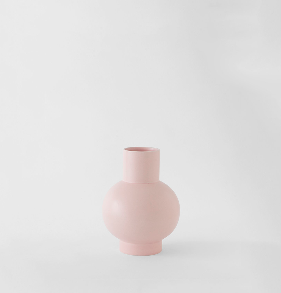 Small pink ceramic vase by Raawii Strom. £50 wagreen.co.uk