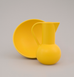 large yellow ceramic jug and large yellow ceramic bowl by Raawii