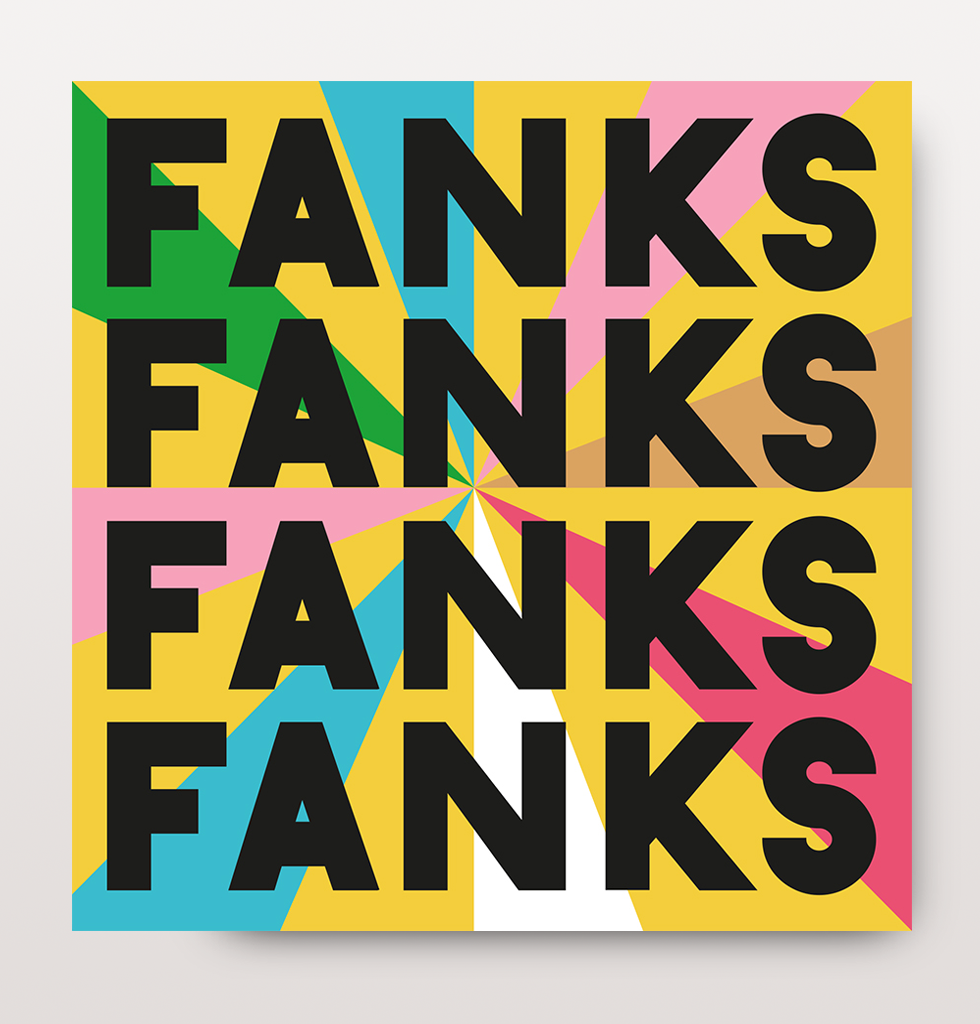 COOL THANK YOU CARD FANKS FANKS FANKS GREETING CARD