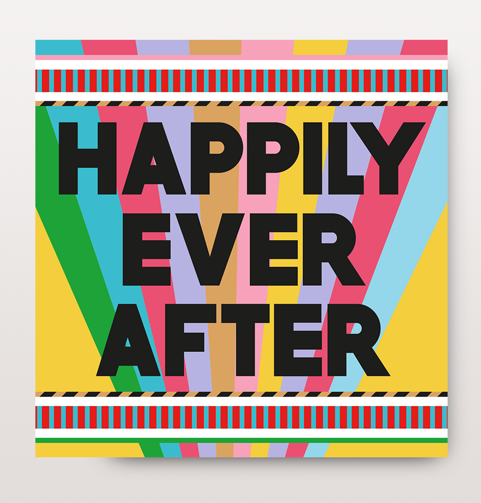 THE BEST COOL WEDDING CARD HAPPILY EVER AFTER