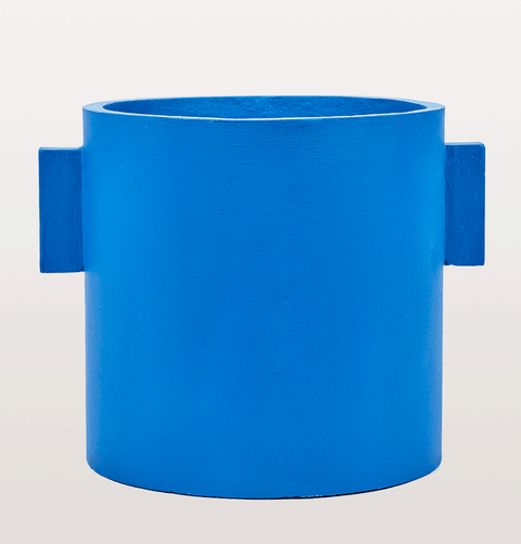BLUE CONCRETE PLANT POT EXTRA LARGE SERAX